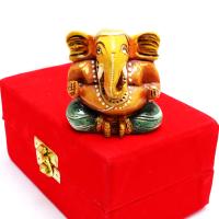 Wooden Ganesh Idol For Worshipping