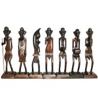 Wooden Made Tribal Decorative Set