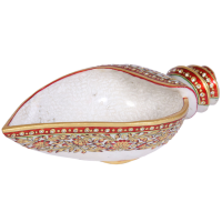 Traditional Marble Meenakari Crafted Serving Conch Online
