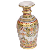 Marble Meenakari Hand Crafted Golden Flower Vase Online