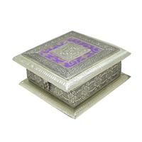 Beautiful Wooden Oxidised Crafted Dry Fruit Box