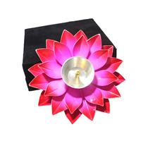 Flower Shaped Diya Metal Crafted In Velvet Box