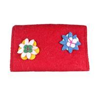 Red felt purse