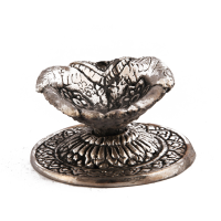 Oxidised metal hand shaped diya