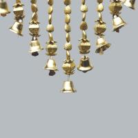 A seashell bandhanwar with decorative bells.