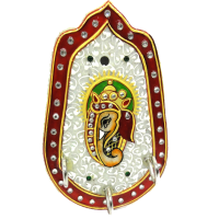 Marble Ganesha Decorative Key Holder For Wall Online
