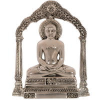 Beautifully Crafted Metal Lord Mahavir Wall Hanging