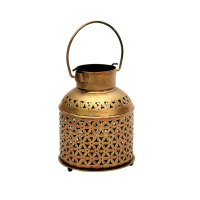 Brass Crafted Bucket As Decorative Candle Holders Online