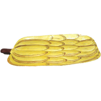 Banana Bunch Shaped Metal Serving Plate with Jaipuri Painting