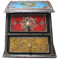 Wooden chest drawers with jaipuri painting for your sweet home