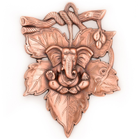 Bring Home The Metal Wall Hanging Of Lord Ganesha On Creative Leaf This Season