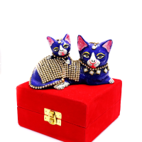 Cat With Kitten Pair With Stone And Meena Art Work