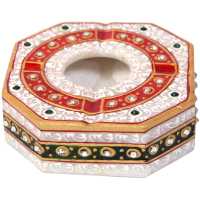 Traditional Colored Marble Meenakari Craft Ash Tray Online