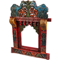 Colorful Camel Print Rajasthani Wooden Jharokha Online