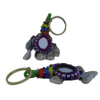 Cowry Shell Made Work Keychain