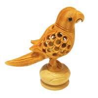 Critically Carved Wooden Parrot
