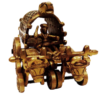 Brass Metal Handicrafts Cow Cart As Showpiece Online