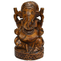 Decorative Lord Ganesha Idol in Wood For Return Gift