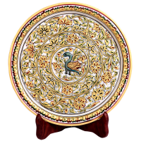 Decorative Marble Plate with Gold Handwork
