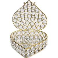 Designer Jewellery Box in Crystal & Metal For Ladies