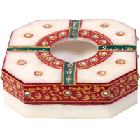 Traditional Marble Meenakari Handicraft Ash Tray Online