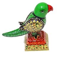 Handcrafted Wooden Parrot Bird