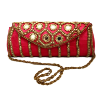 Elegant Bom Design Clutch Bag With Mirror Designs