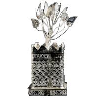 Elegant looking german silver tulsi tree show piece