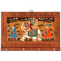 Elephant Showpiece & Wooden Key Holder For Wall Online