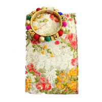 Floral Printed Stylish Clutch With Bangle For All the Party Girls