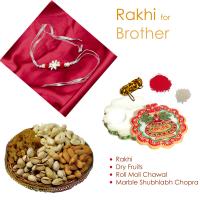 Graceful rakhi for bhaiya, flower chopra & dry fruits