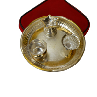 Handicraft Pooja Thali As German Silver Gift Items Online