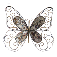 Handcrafted Iron Butterfly Wall Decor