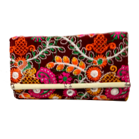 Multicoloured Handcrafted Purse having Emboidery