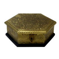 Hexagonal Box to Store Dry Fruits For Return Gifts