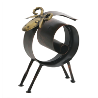 Iron And Copper Napkin Holder