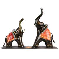 Iron Made Elephant Set for House decoration