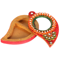 Wooden Kundan Handicrafts Paisley Shaped Chopra Online
