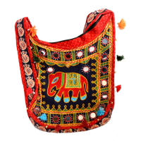 Kanta Banjara Orange & Black Coloured Handbag