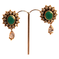 Kundan heavy earrings