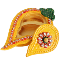 Wooden Kundan Handicrafts Mango Shaped Chopra Online