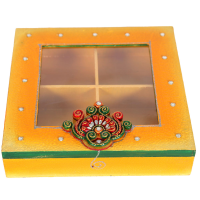Wooden Kundan Handcrafted Dry Fruits Gift Pack Online