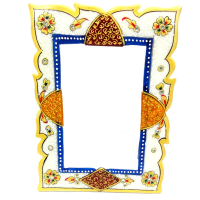 Marble Meenakari Stone Handicrafts Photo Frame Online
