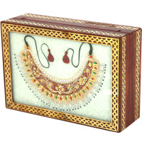 Marble Handicrafts Jewellery Box With Necklace Design
