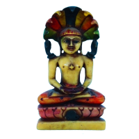 Meditating Mahaveer In Soft Resin