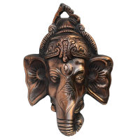 Metal Wall Hanging Of Lord Ganesha- Divinity And Elegance