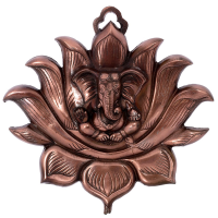 Lord Ganesha Wall Hanging on Lotus
