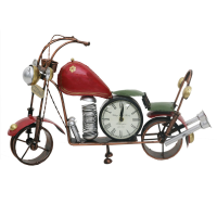 Metalic Bike Shaped Wall Clock