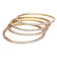 Micro gold plated bangles