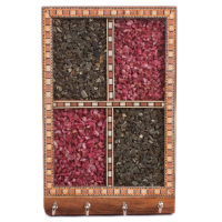 Multicoloured Gem stone Key holder